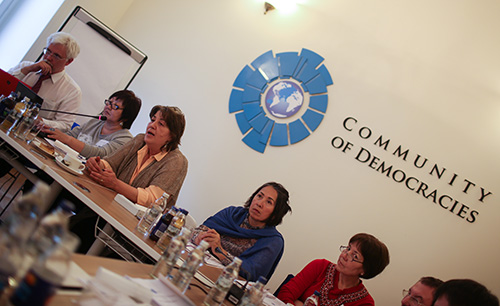 Participants at the May 7 regional dialogue (click for a link to the full photo album)