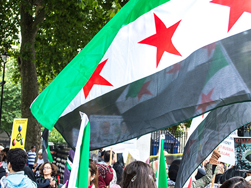 Syria independence flag-500