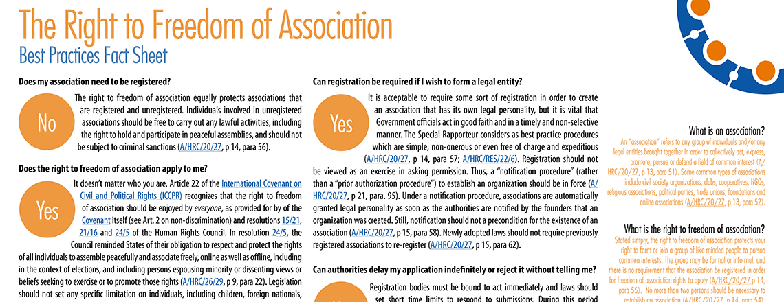 Association rights factsheet - page 1 - 1140