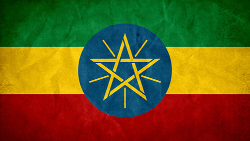 Ethiopia grunge flag 500