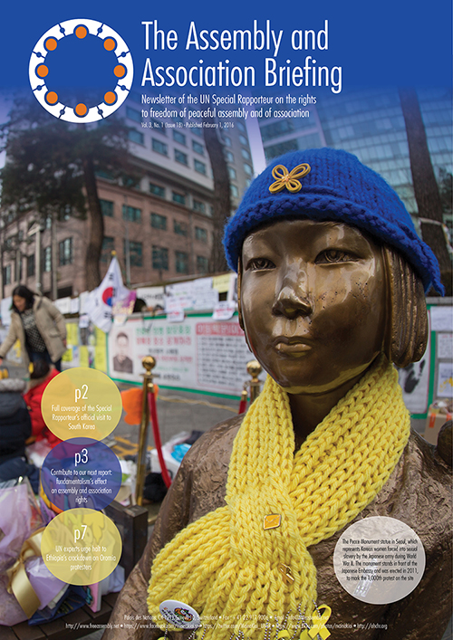 UNSR Maina Kiai newsletter - Vol. 3, No. 1 (cover)_500