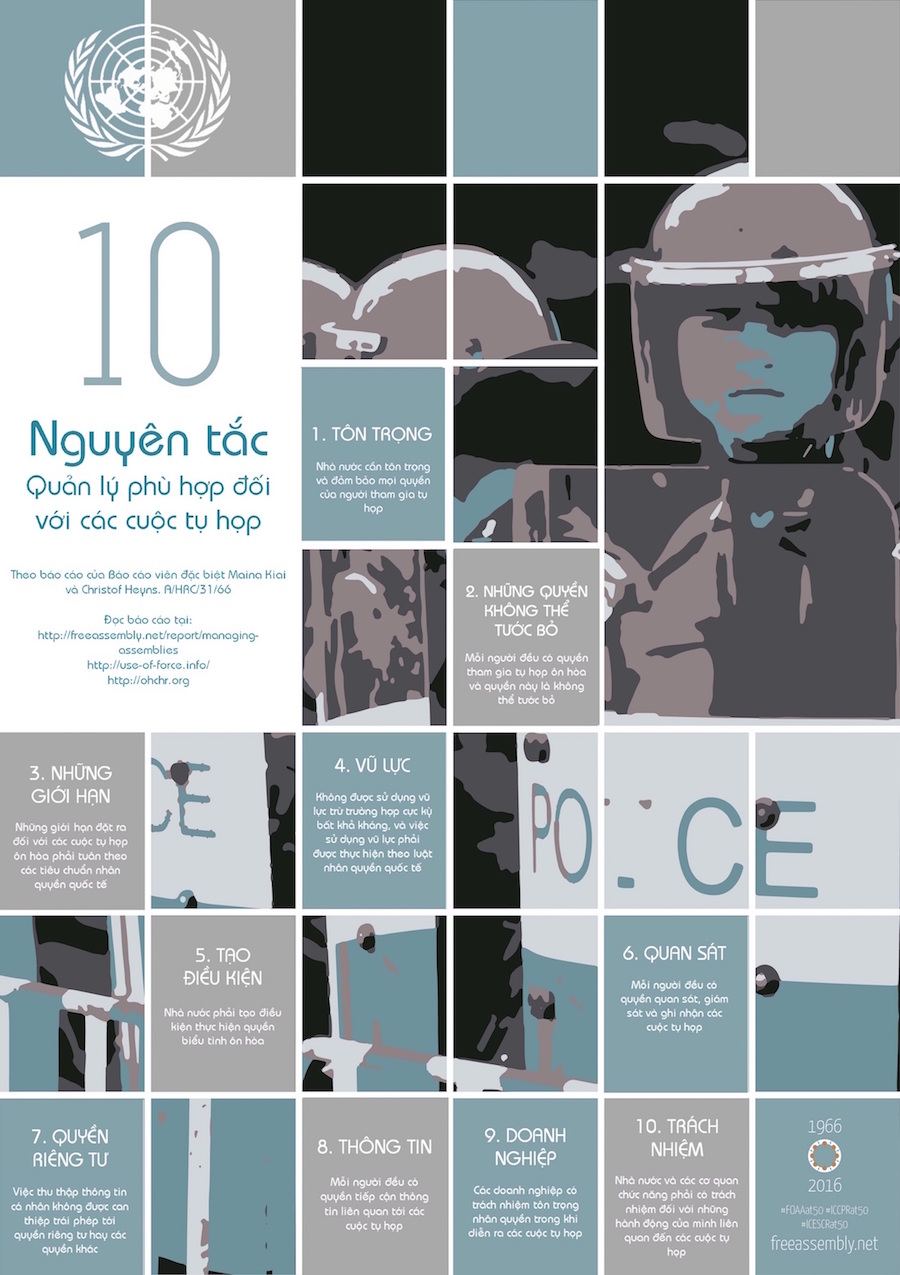 Poster design principles - 10 Principles For The Management Of Protests Vietnamese A Hrc 31 66
