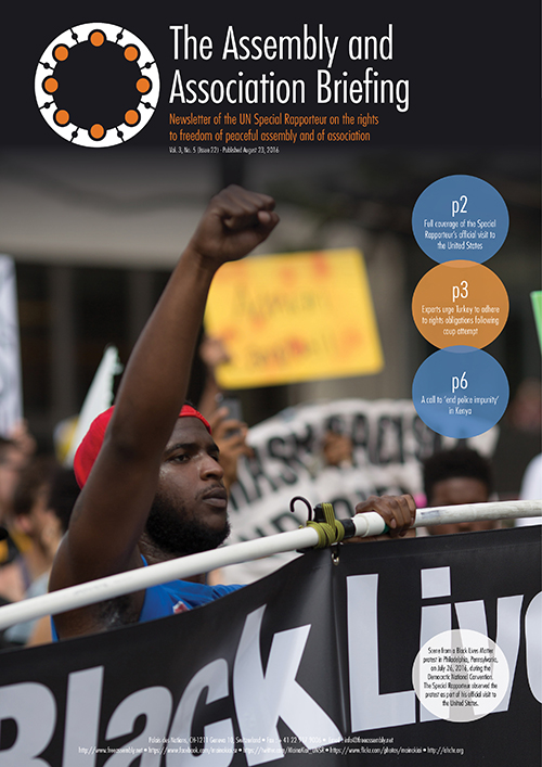 UNSR Maina Kiai newsletter - Vol. 3, No. 5 cover 500